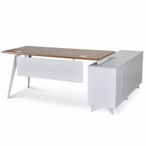 Stylus Left Return Executive Office Desk | Walnut