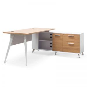 Stylus Right Return Executive Office Desk | Natural