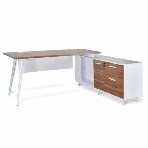 Stylus Right Return Executive Office Desk | Walnut