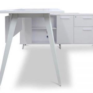 Stylus Right Return Executive Office Desk | White