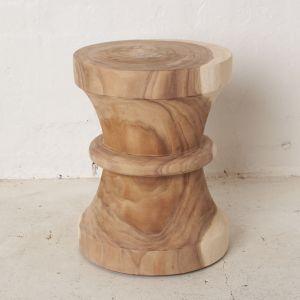 Suar Wood Curved Stool l Pre Order