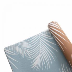 Summer Palms in Rust & Blue Surf | Play Mat