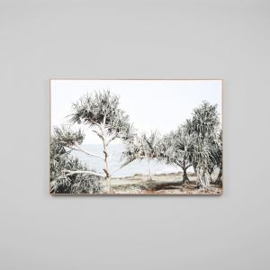 Sunbleached Coast Framed Canvas