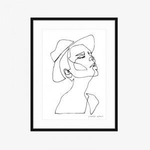Sunday | Fine Art Print | One Line by PHOLIO