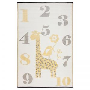 Sunny Giraffe | Indoor Outdoor Kids Rug | Various Sizes