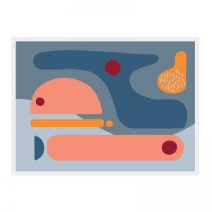 Sunset Lakes | Framed Art Print