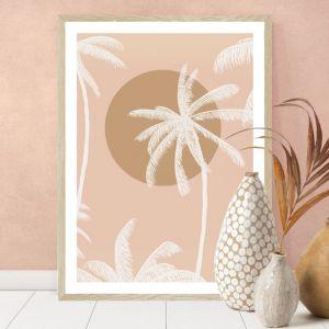 Sunset Palm Blush | Art Print