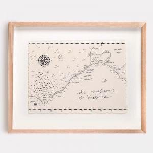 Surfcoast of Victoria Map Illustration | Print by Adrianne Design