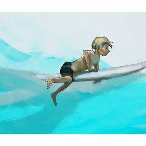 Surfer   Illustrated Art Print