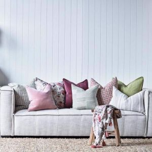 Surry Cushion | Dusty Rose/Natural