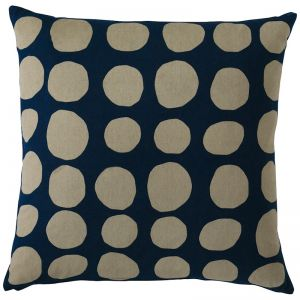 Suzy D Dot Cushion | Navy/Natural