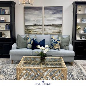 Sweeping Coastline | Two Piece Canvas in Antique Silver Frame