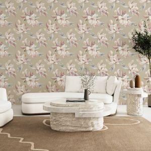 Sweet Magnolia - Natural | Wallpaper