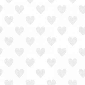 Sweetheart Hearts Wallpaper for Kids - Grey