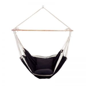 Swing Chair with Soft Cushions | Black