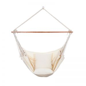 Swing Chair with Soft Cushions | Cream