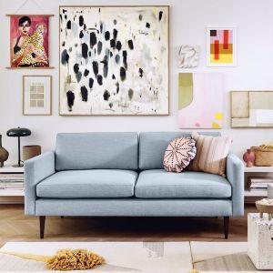 Swyft | Model 01 Linen 2 Seater Sofa | Seaglass
