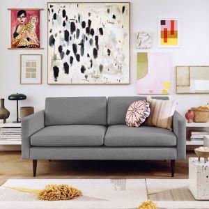 Swyft | Model 01 Linen 2 Seater Sofa | Shadow