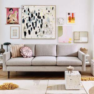 Swyft | Model 01 Linen 3 Seater Sofa | Pumice