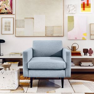 Swyft | Model 01 Linen Armchair | Seaglass