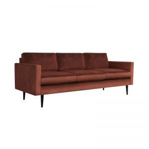 Swyft | Model 01 Velvet 3 Seater Sofa | Brick