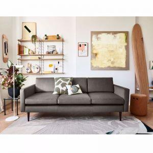 Swyft   Model 01 Velvet 3 Seater Sofa   Elephant