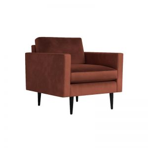 Swyft | Model 01 Velvet Armchair | Brick
