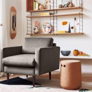 Swyft | Model 01 Velvet Armchair | Elephant | Pre Sale