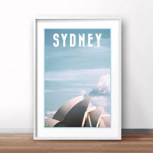Sydney   Art Poster   Unframed and Framed