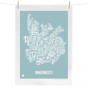Sydney Inner West Map | Tea Towel by Burbia