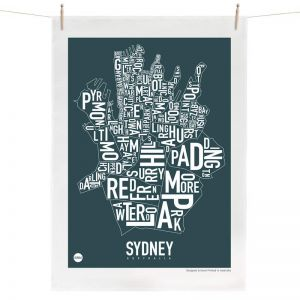 Sydney Map | Tea Towel by Burbia