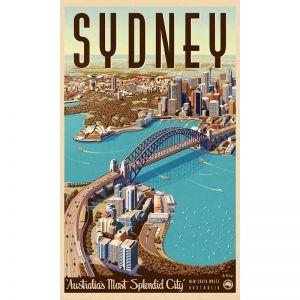 Sydney Retro Poster