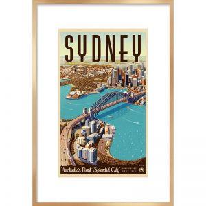 Sydney Retro Poster | Framed