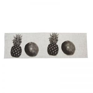 Table Runner   Pineapple and Coconut Black   by Bonnie and Neil