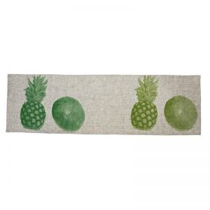 Table Runner   Pineapple & Coconut Green   by Bonnie and Neil