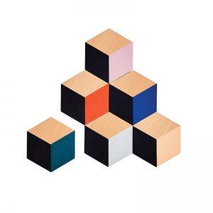 Table Tiles Modern Coaster Set | Multicolour | CLU Living