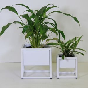 Tabletop Planters in White | Set of 2 by SATARA