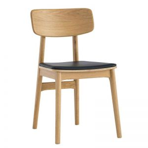 Tacy Dining Chair | Natural & Black