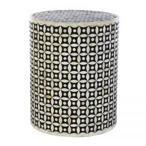 Taj Bone Inlay Side Stool