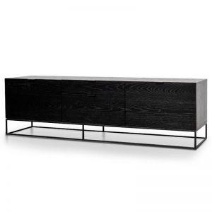 Talia 180cm Wooden TV Entertainment Unit - Black