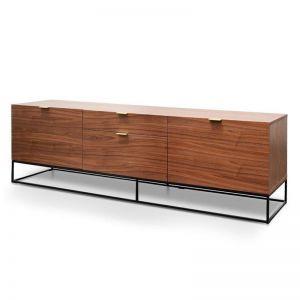 Talia 180cm Wooden TV Entertainment Unit - Walnut