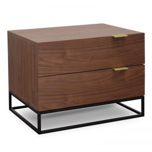 Talia Bedside Table | Walnut | Interior Secrets