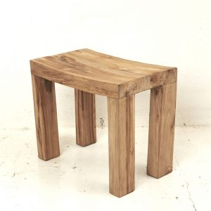 Talib Curved Side Table in Rustic Finish l Pre Order