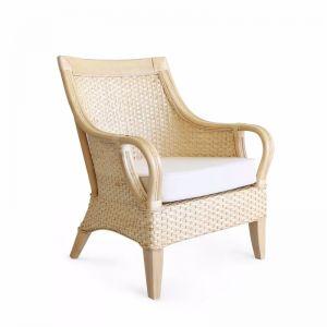 Tamia Rattan Lounge Chair   Natural   by Black Mango