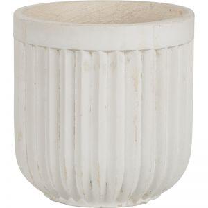Tampa 29x29cm Concrete Planter, Milky White | Schots