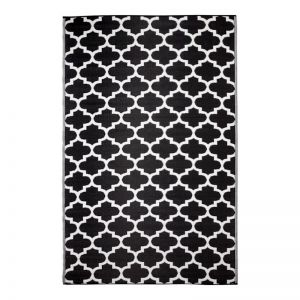Tangier Black | Recycled Plastic Outdoor Rug