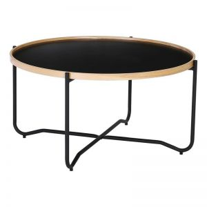 Tanix Coffee Table | Round | Black