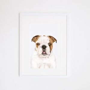 Tank the Bulldog | Giclee Art Print | by For Me By Dee