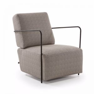 Tanner Accent Chair | Hound Tooth Fabric