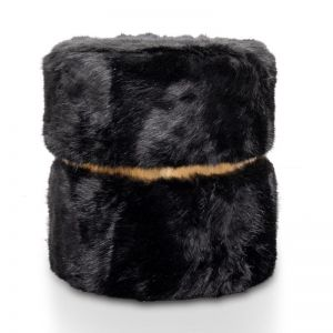 Tara Ottoman | Black Fur | Interior Secrets